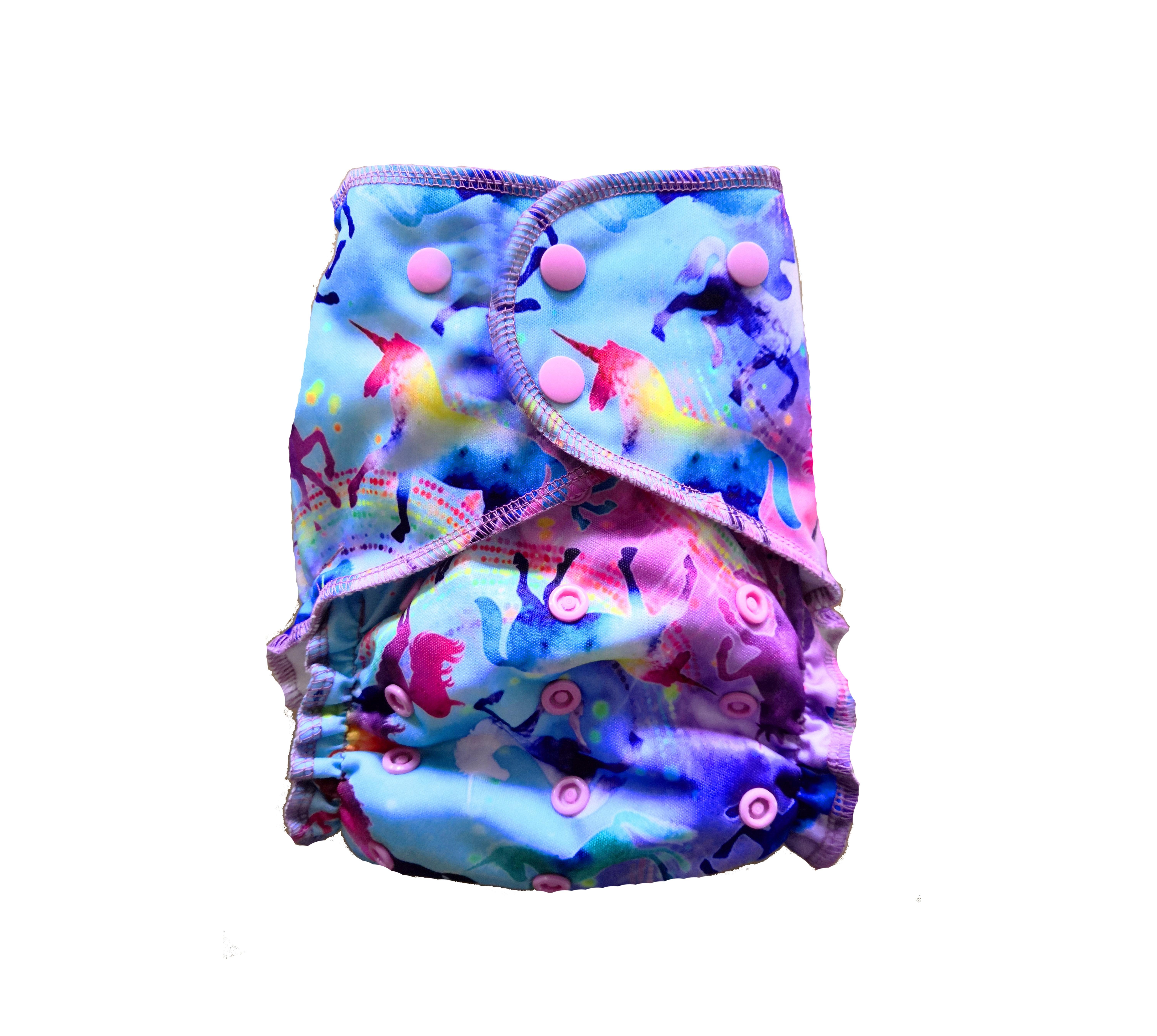 Easy Pocket™ One Size Cloth Diaper - Celeste 00470