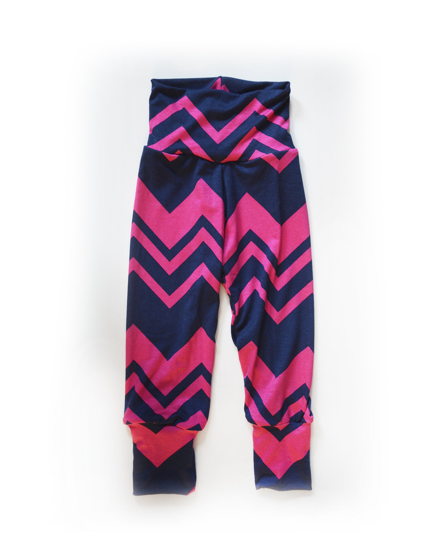 Little Sprout Pants™ Navy Pink Chevron - Stretch Fit regular 00478