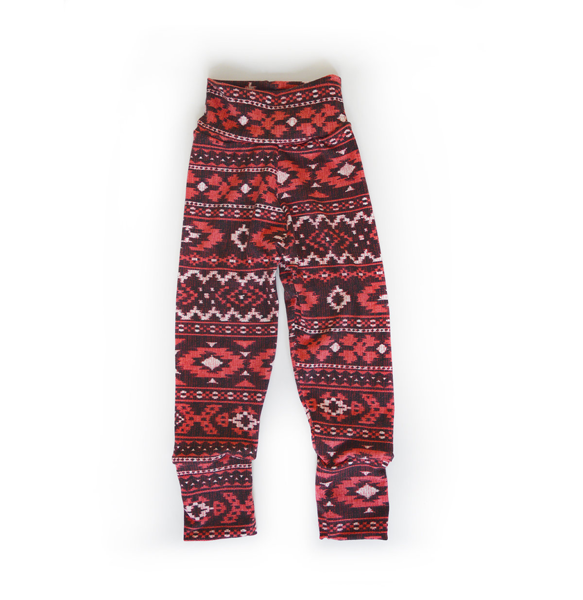 Little Sprout Pants™ Red Tribal - Lightweight Slim 00480