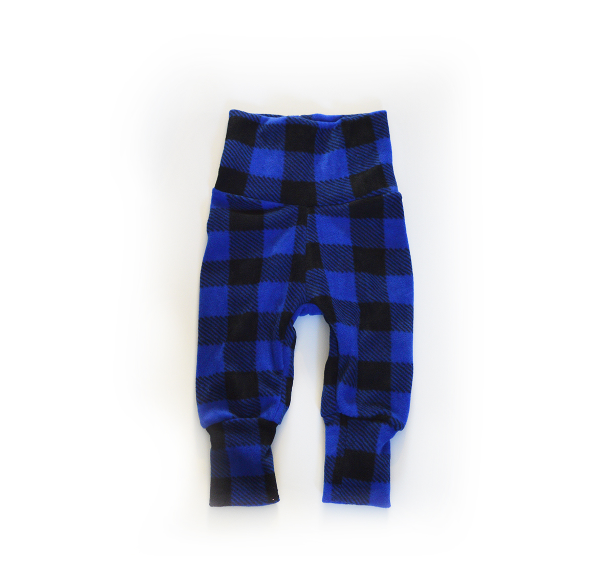 Mini Sprout Pants™ Blue Buffalo Plaid Fleece 00507