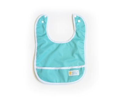 Set of 2 Easy Peasies® Stay Clean Bibs - Jewel