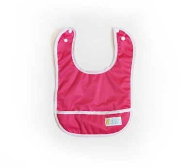 Set of 2 Easy Peasies® Stay Clean Bibs - Raspberry