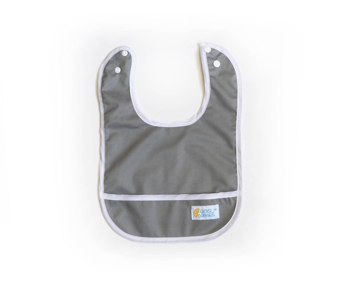 Set of 2 Easy Peasies® Stay Clean Bibs - Winter Fog 00513