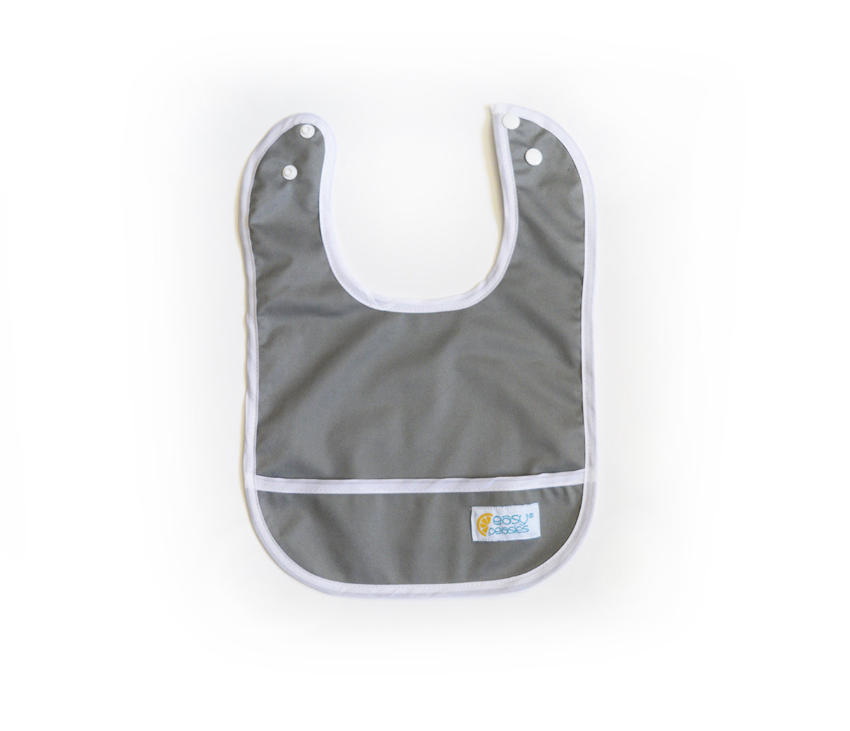 Set of 2 Easy Peasies® Stay Clean Bibs - Winter Fog