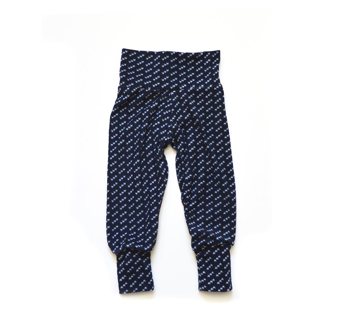 Little Sprout Pants™ Blue Waves - Fleece 00517