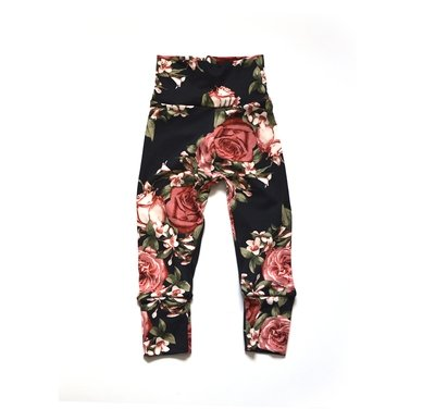 Little Sprout One-Size Pants™ Rosie on Black - Stretch