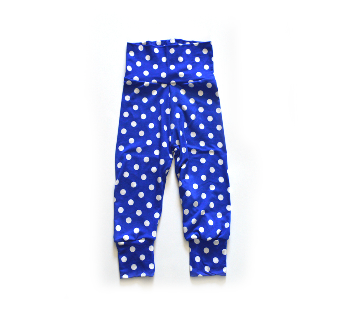 Little Sprout Pants™ Polka Dots on Blue 00573