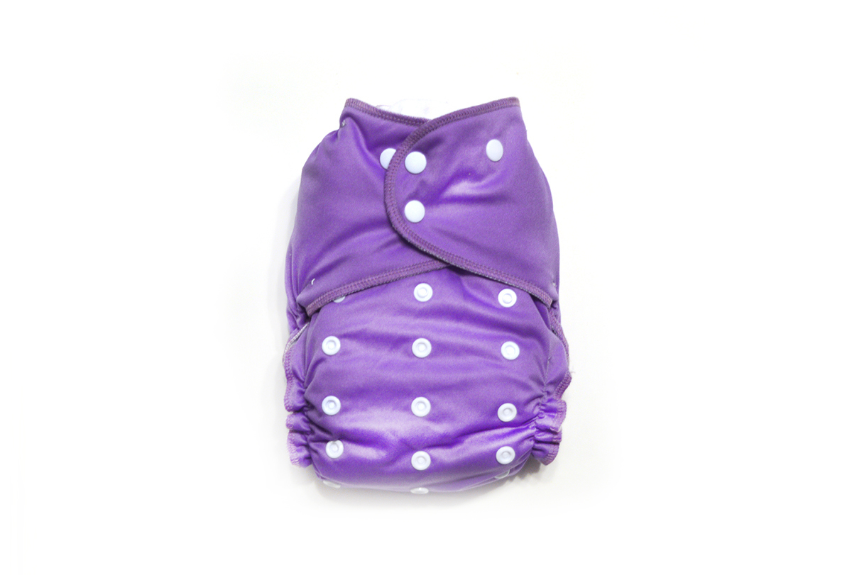 Orchid Ready-Use™ / Dry-Nights™ AIO Cloth Diaper  - One Size 00600