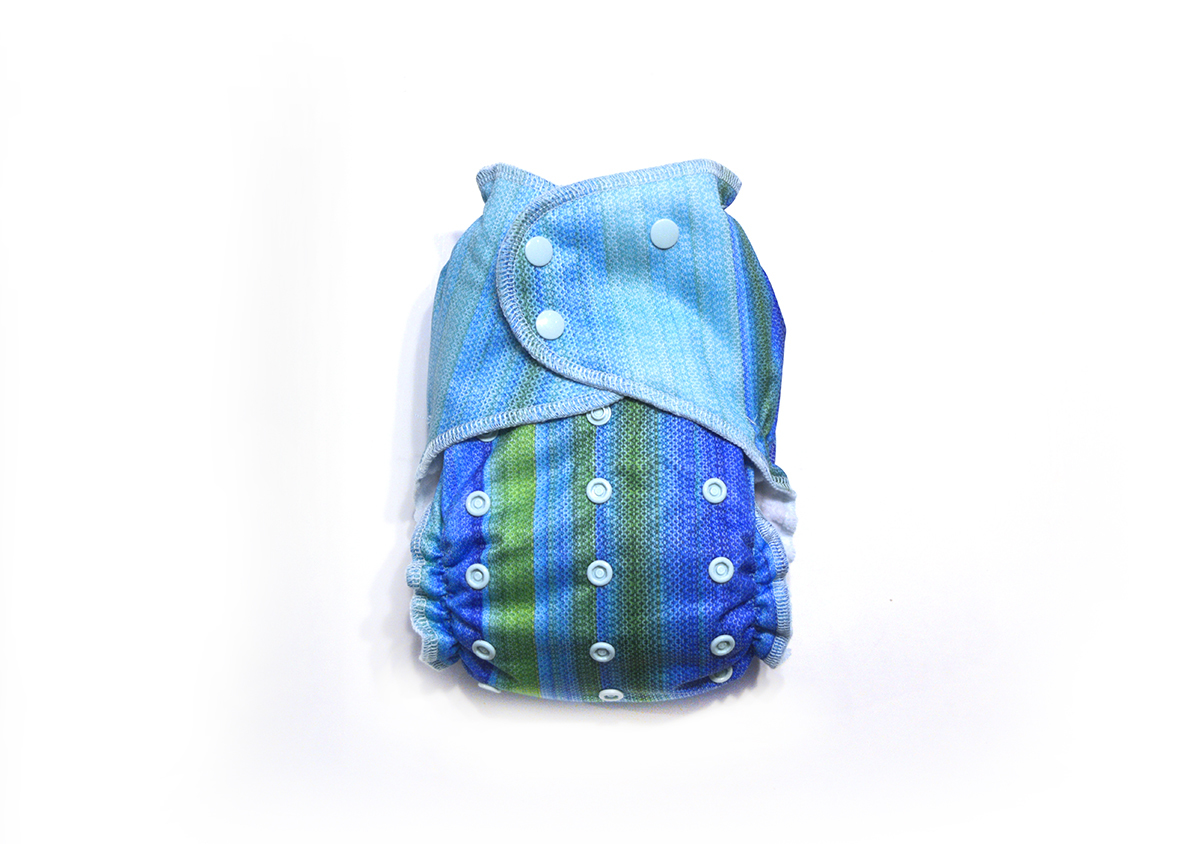 Ocean Ready-Use™ / Dry-Nights™ AIO Cloth Diaper  - One Size 00602