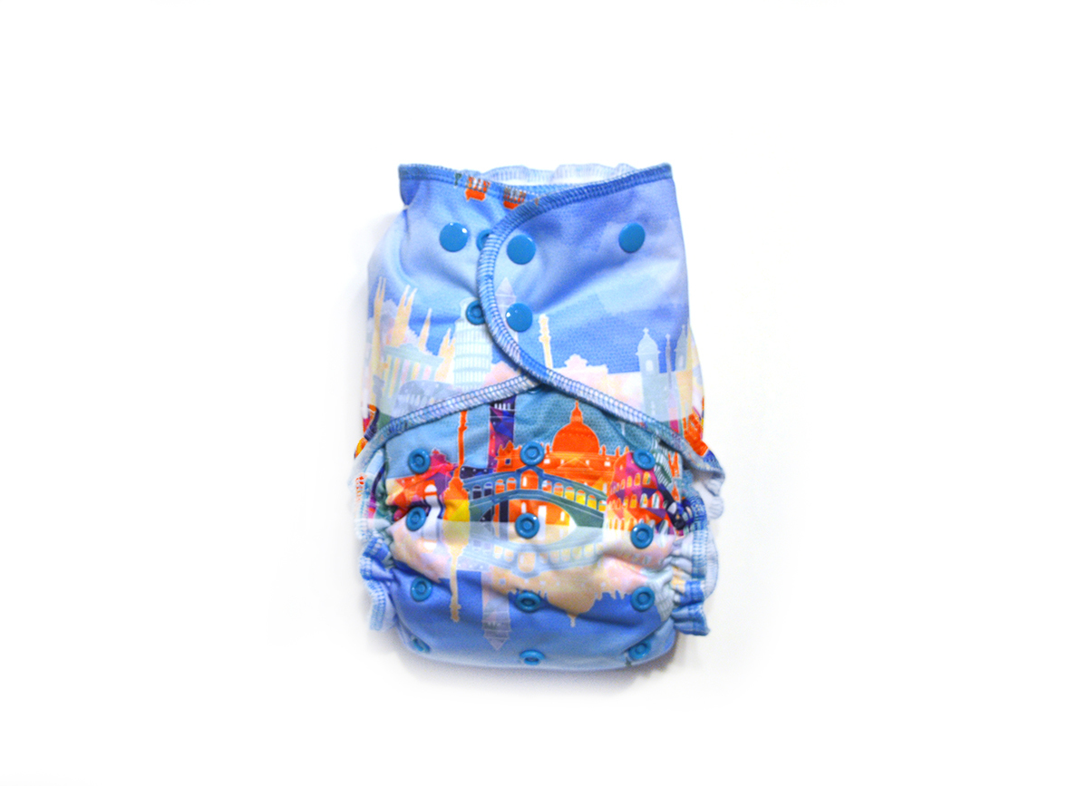 Voyage Ready-Use™ / Dry-Nights™ AIO Cloth Diaper  - One Size 00601
