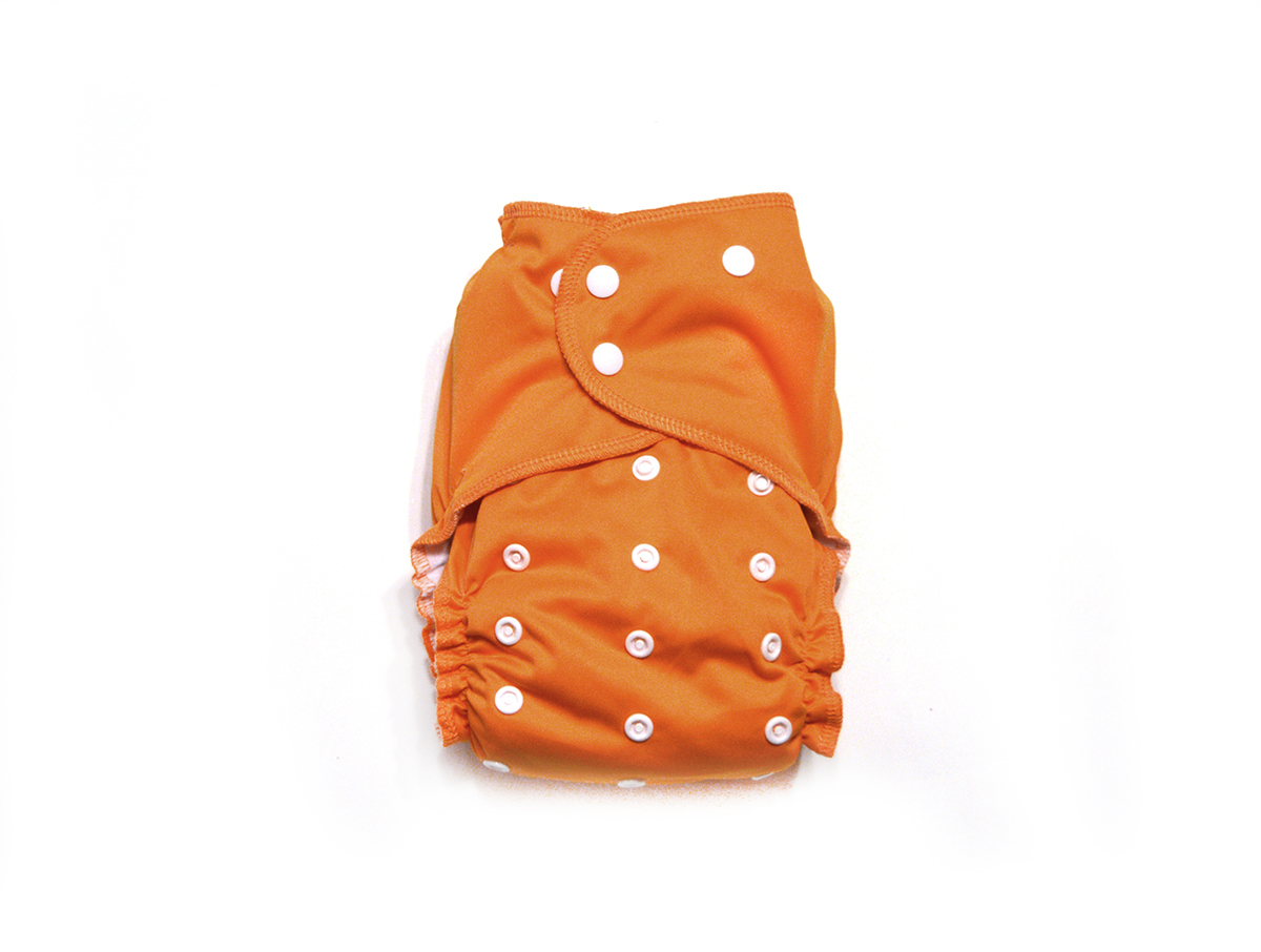 Pumpkin Spice Ready-Use™ /Dry-Nights AIO Cloth Diaper - One Size 00595