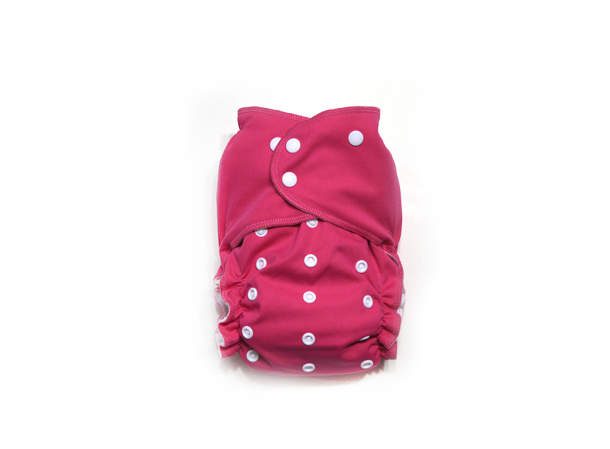 Raspberry Ready-Use™ / Dry-Nights™ AIO Cloth Diaper  - One Size 00598