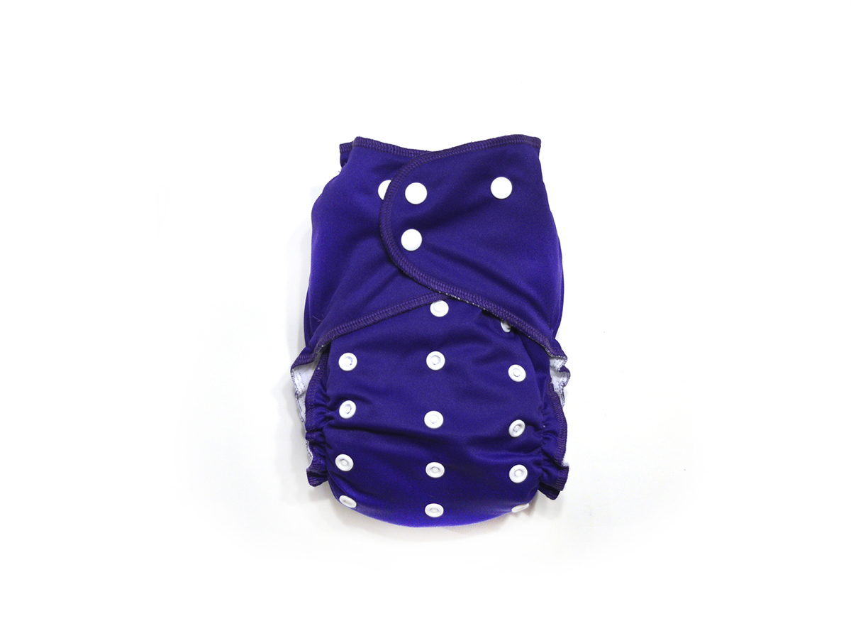 Grape Ready-Use™ / Dry-Nights™ AIO Cloth Diaper  - One Size 00599