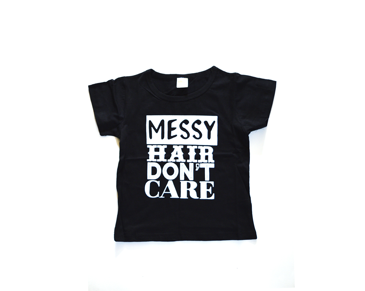 Kid's Tales T Shirt Messy Hair Don't Care 00656