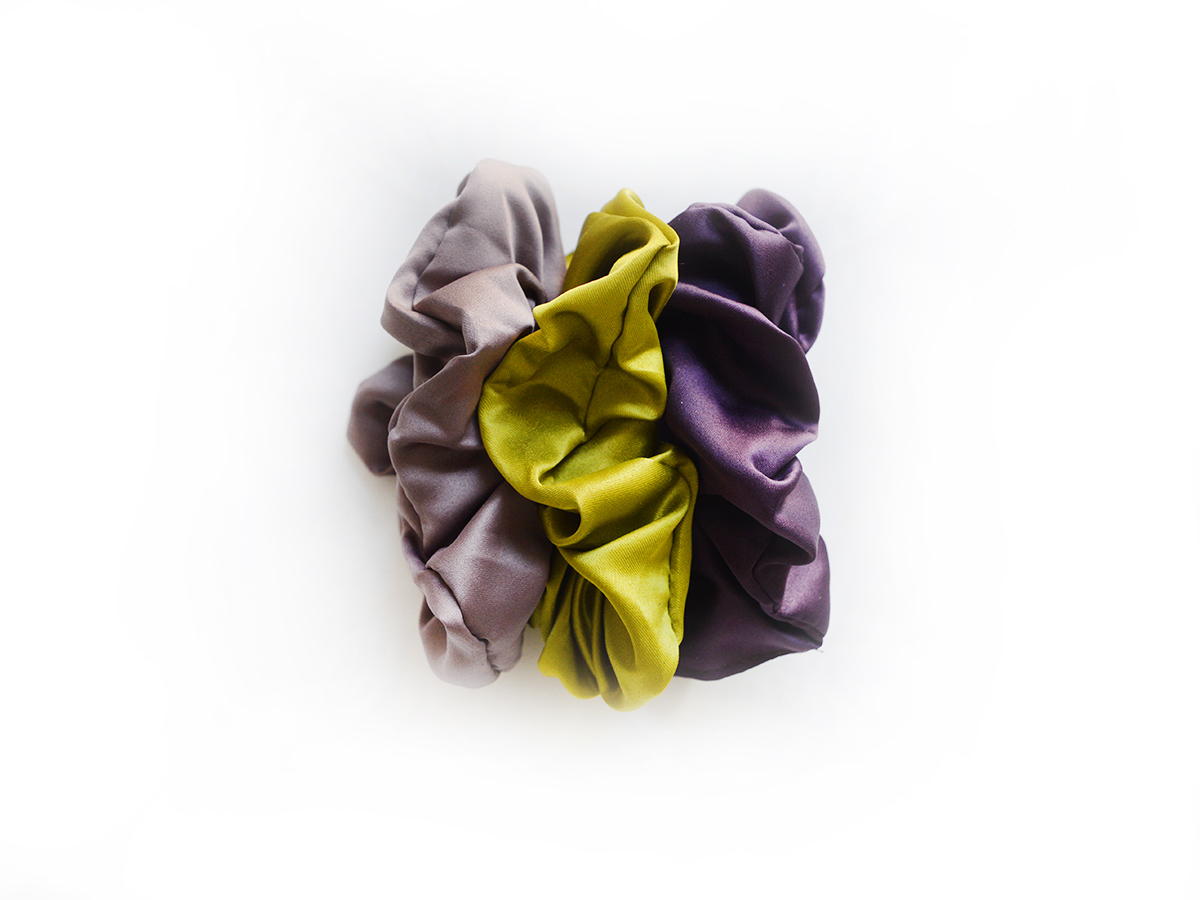 Simply Good™ Satin Scrunchy set 00667