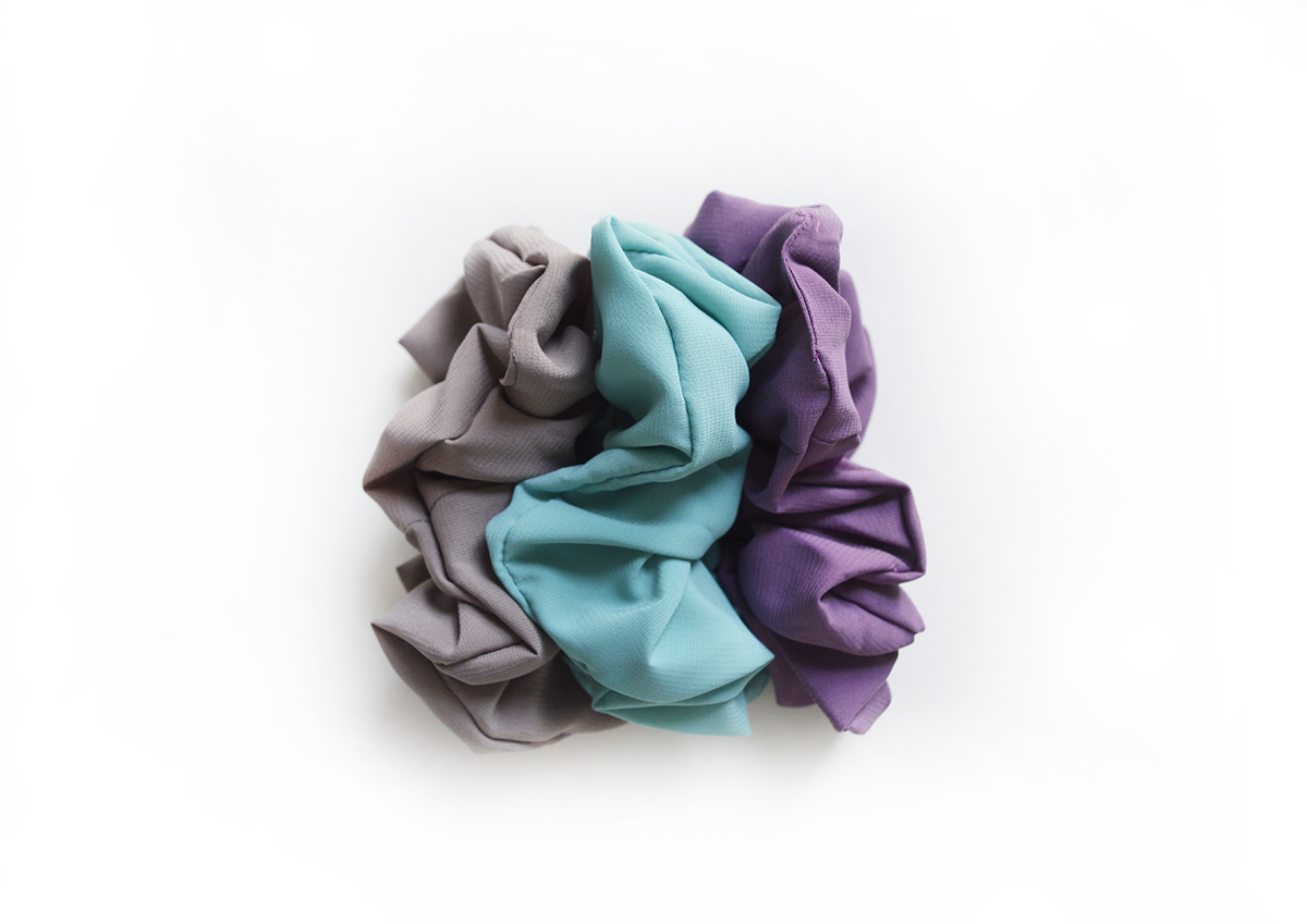 Simply Good™ Chiffon Scrunchy set 00676