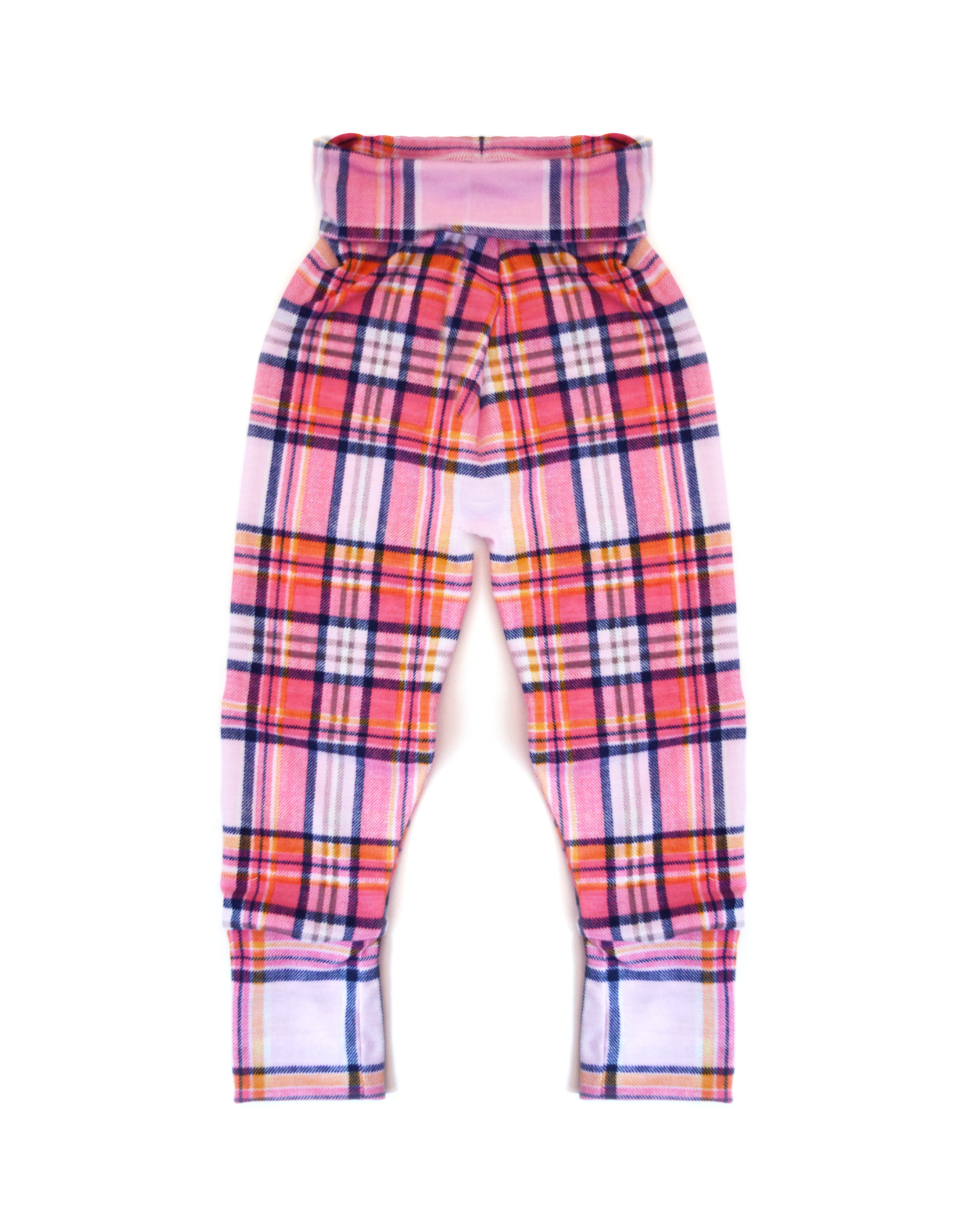 Little Sprout Pants™ Pink Tartan - Slim fit - Cotton 00682
