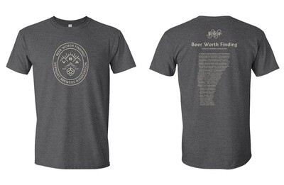 Beer Worth Finding T-Shirt Charcoal Gray