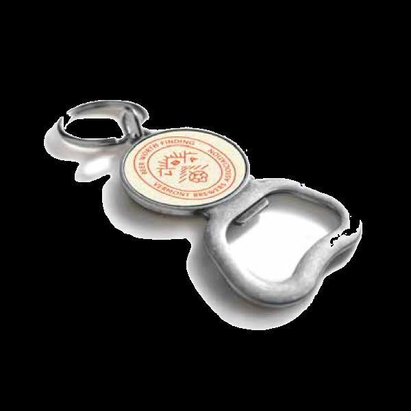 Vintage Round Bottle Opener Keychain