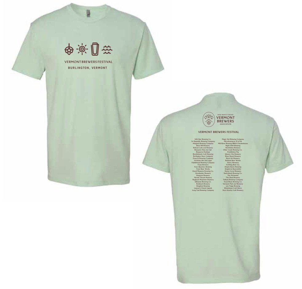 Vermont Brewers Festival 2018 T-Shirt Mint 00017