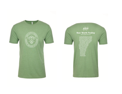 Beer Worth Finding T-Shirt Apple Green