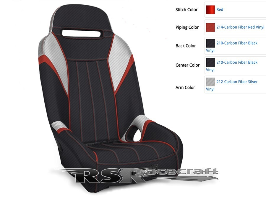 CUSTOM HIGH BACK SUSPENSION BUCKET SEATS HB-012