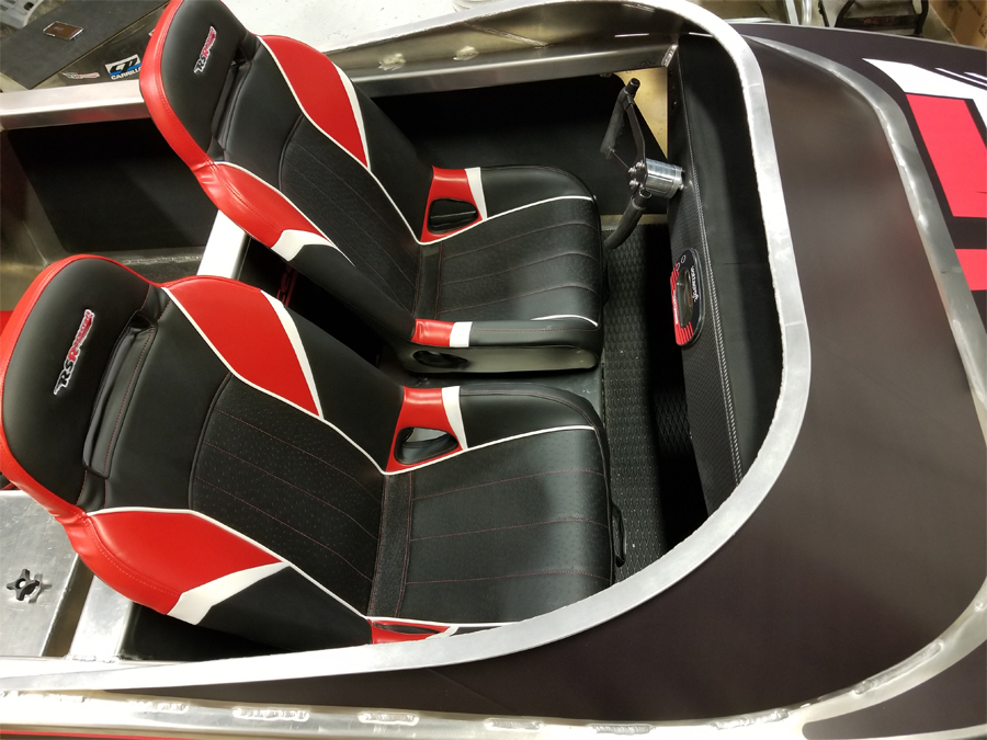CUSTOM HIGH BACK SUSPENSION BUCKET SEATS