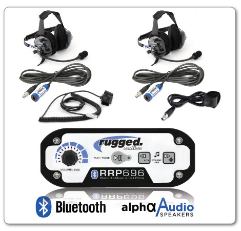 Rugged Radio 696 Intercom w/ Headsets