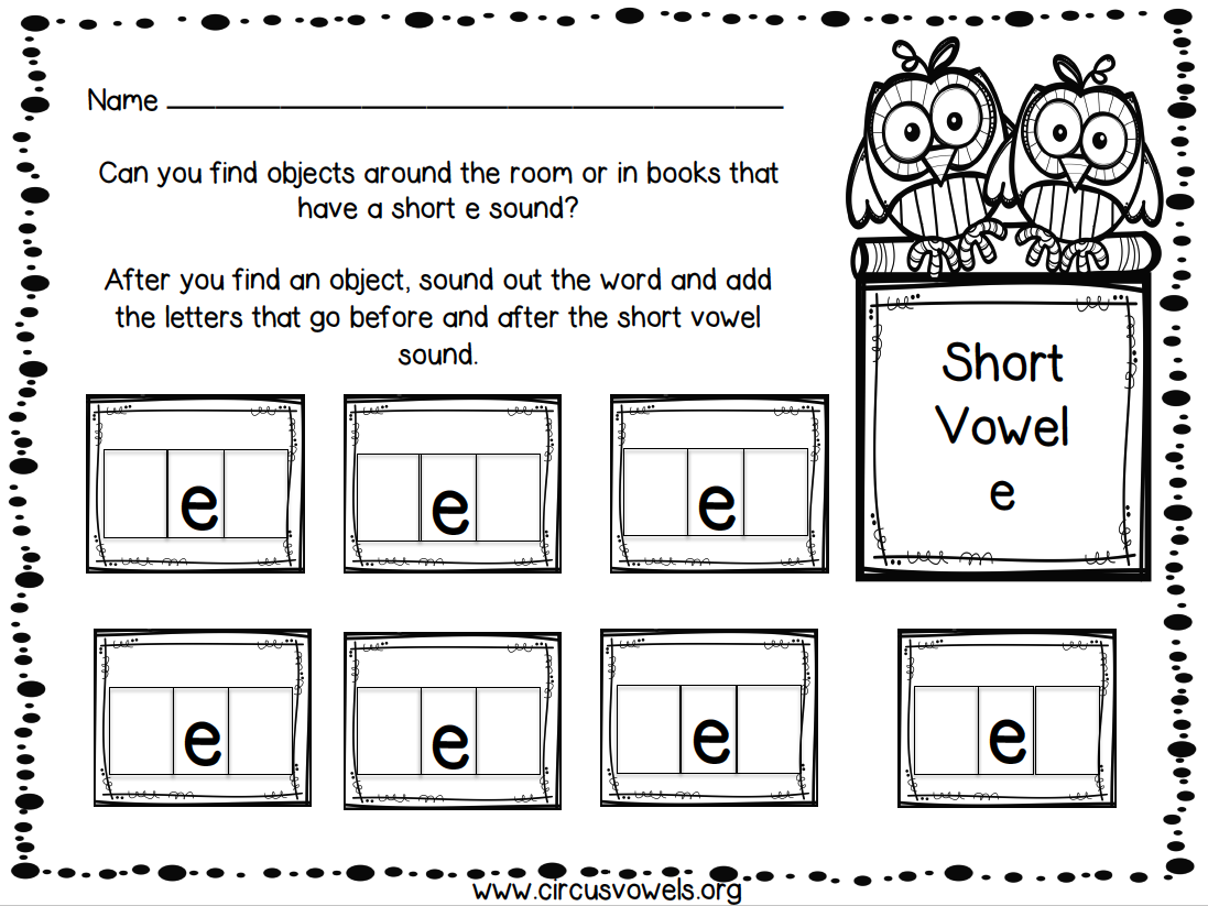Short Vowel Hunt