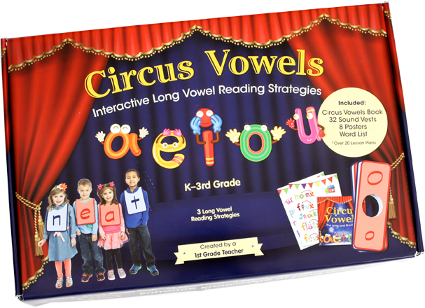 Circus Vowels Interactive Reading Kit