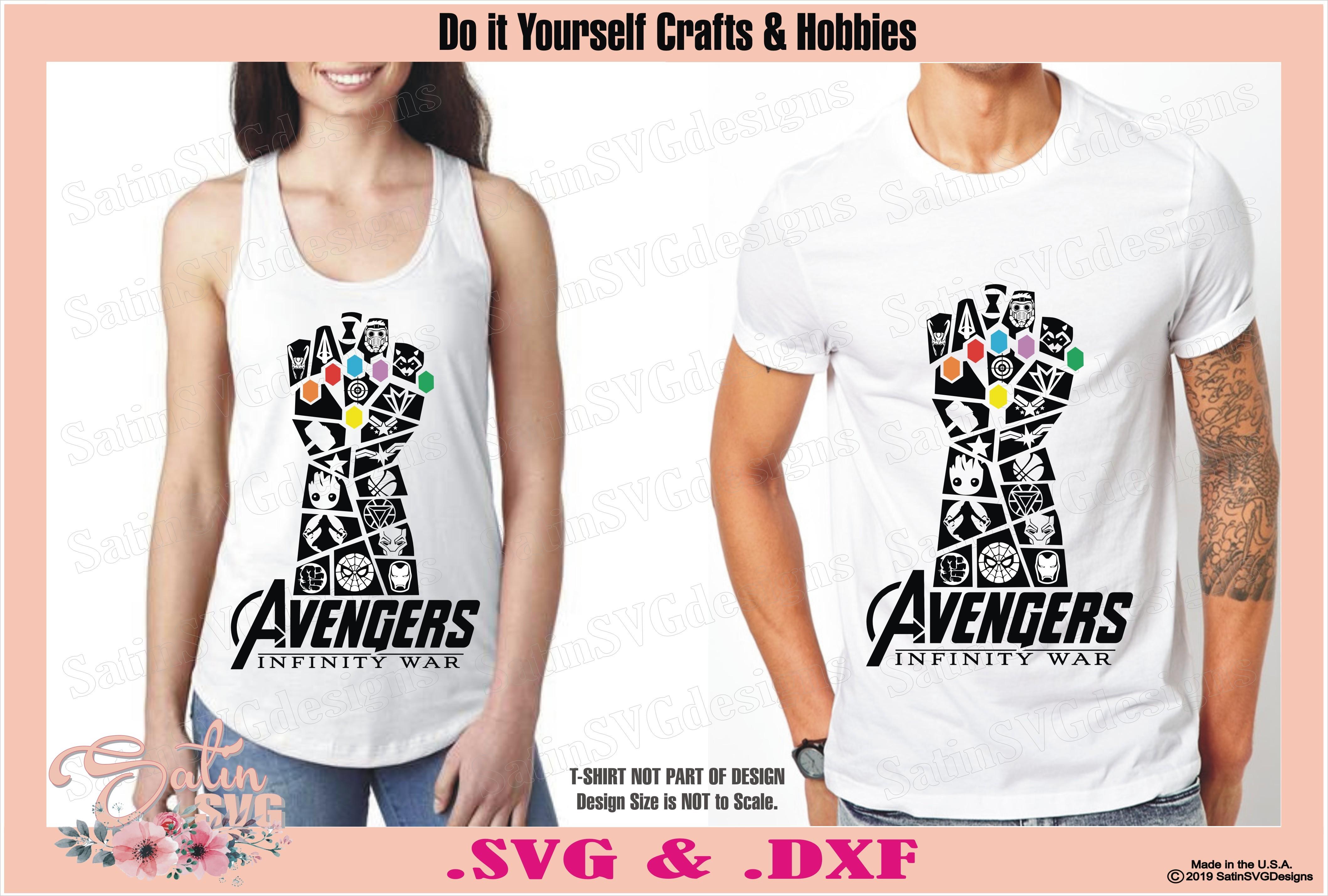 Avengers Infinity War End Game Thanos Glove Marvel Design SVG Files,  Cricut, Silhouette Studio, Digital Cut Files