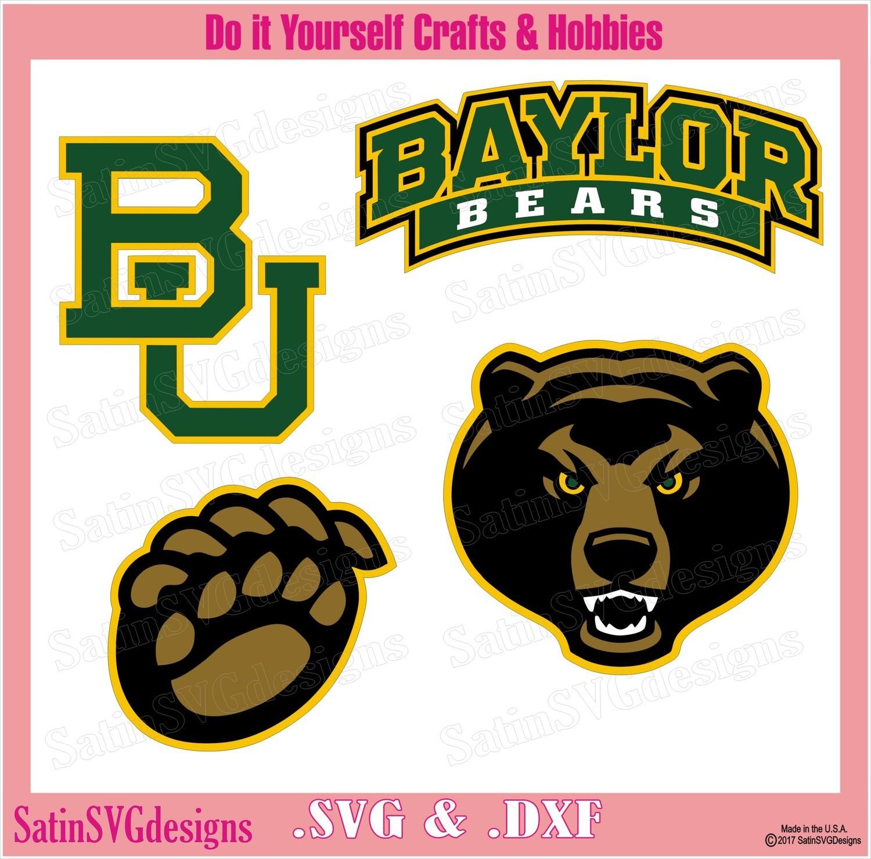 Baylor Bears Set College Design SVG Files, Cricut, Silhouette Studio,  Digital Cut Files