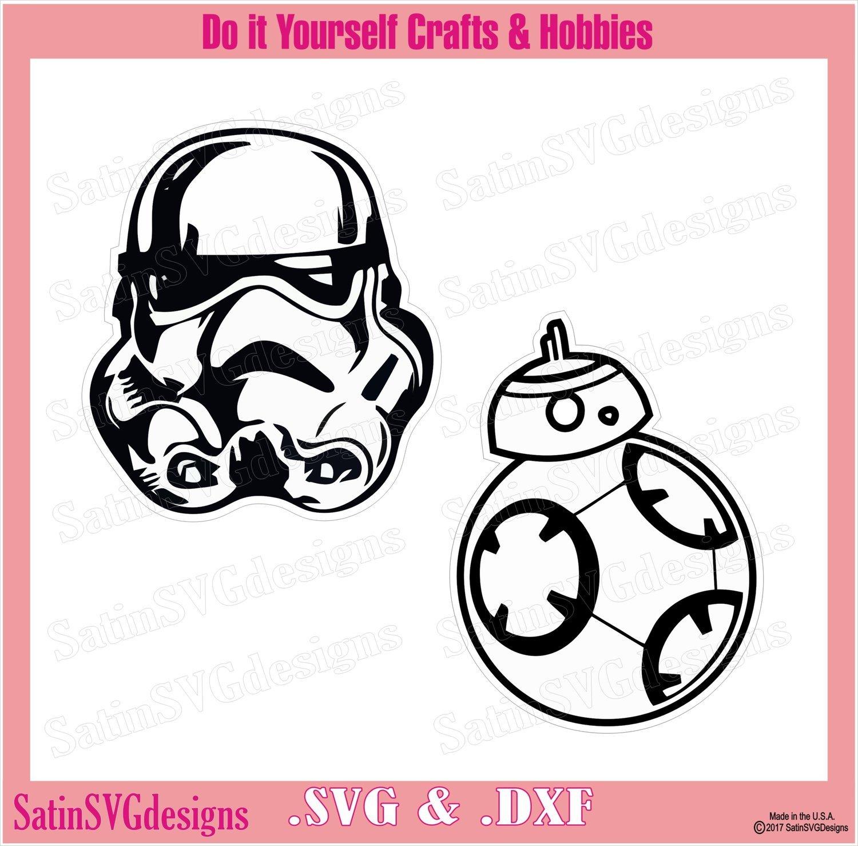 Star Wars Trooper-BB8 Set Design SVG Files, Cricut, Silhouette Studio,  Digital Cut Files