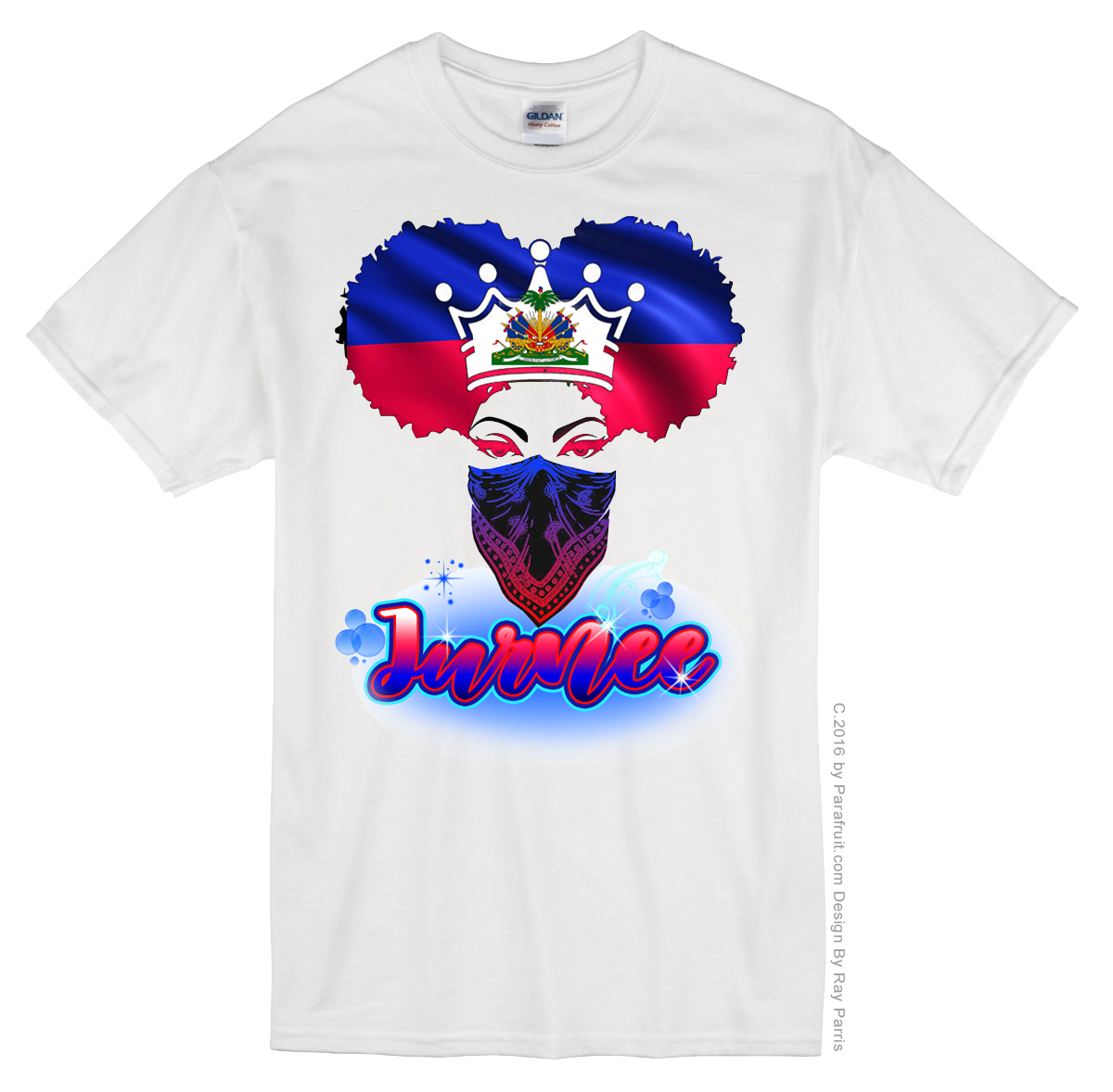 Airbrush Haiti G Girl Name 09870