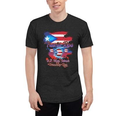 Puerto Rico Unisex Tri-Blend Track Shirt
