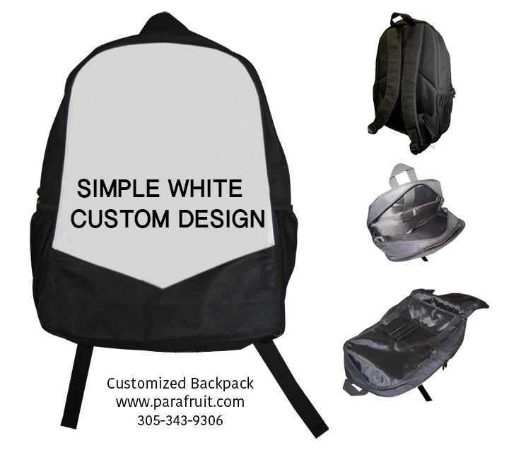 Simple White Custom Backpack 00143