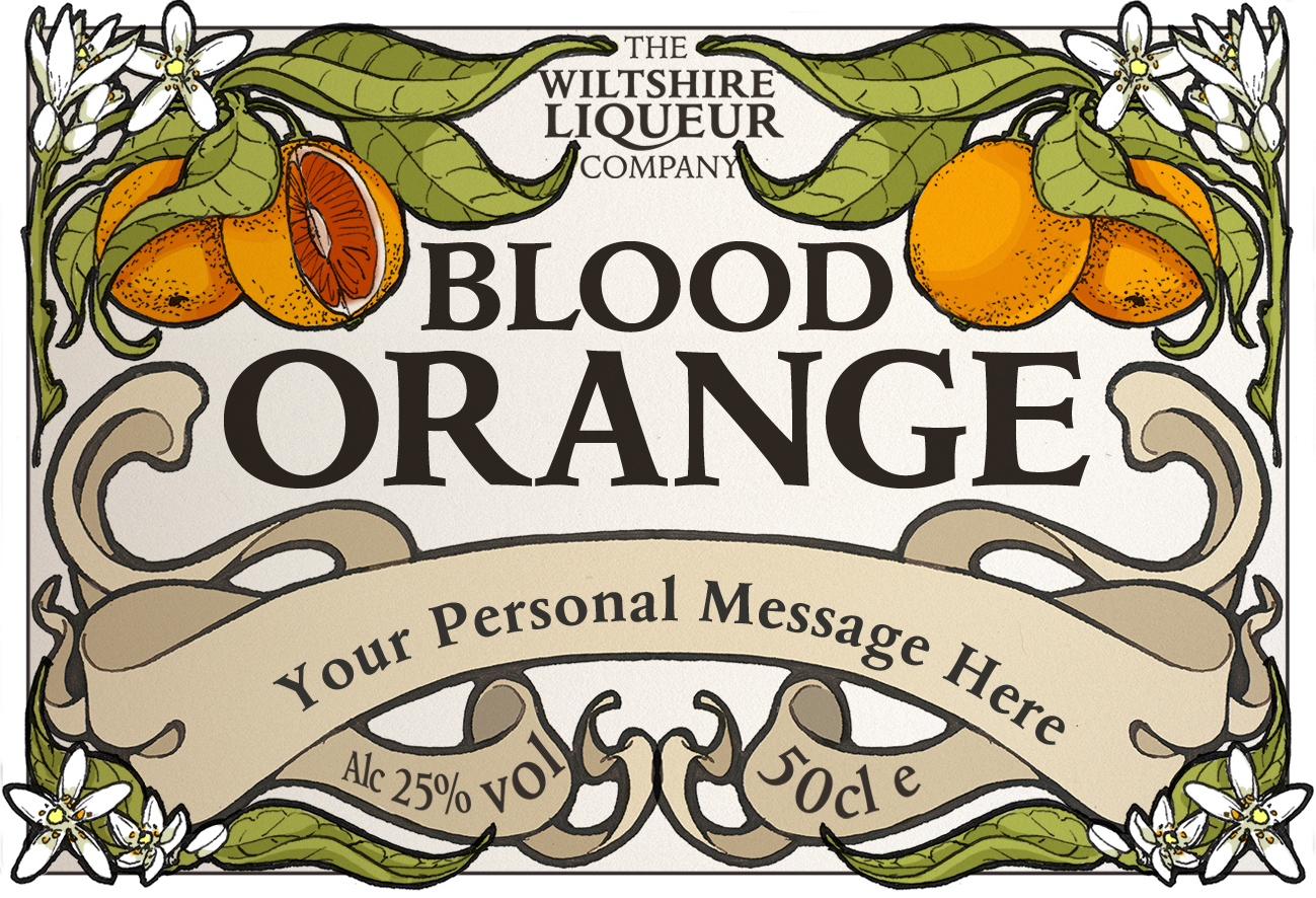 Blood Orange personalised label