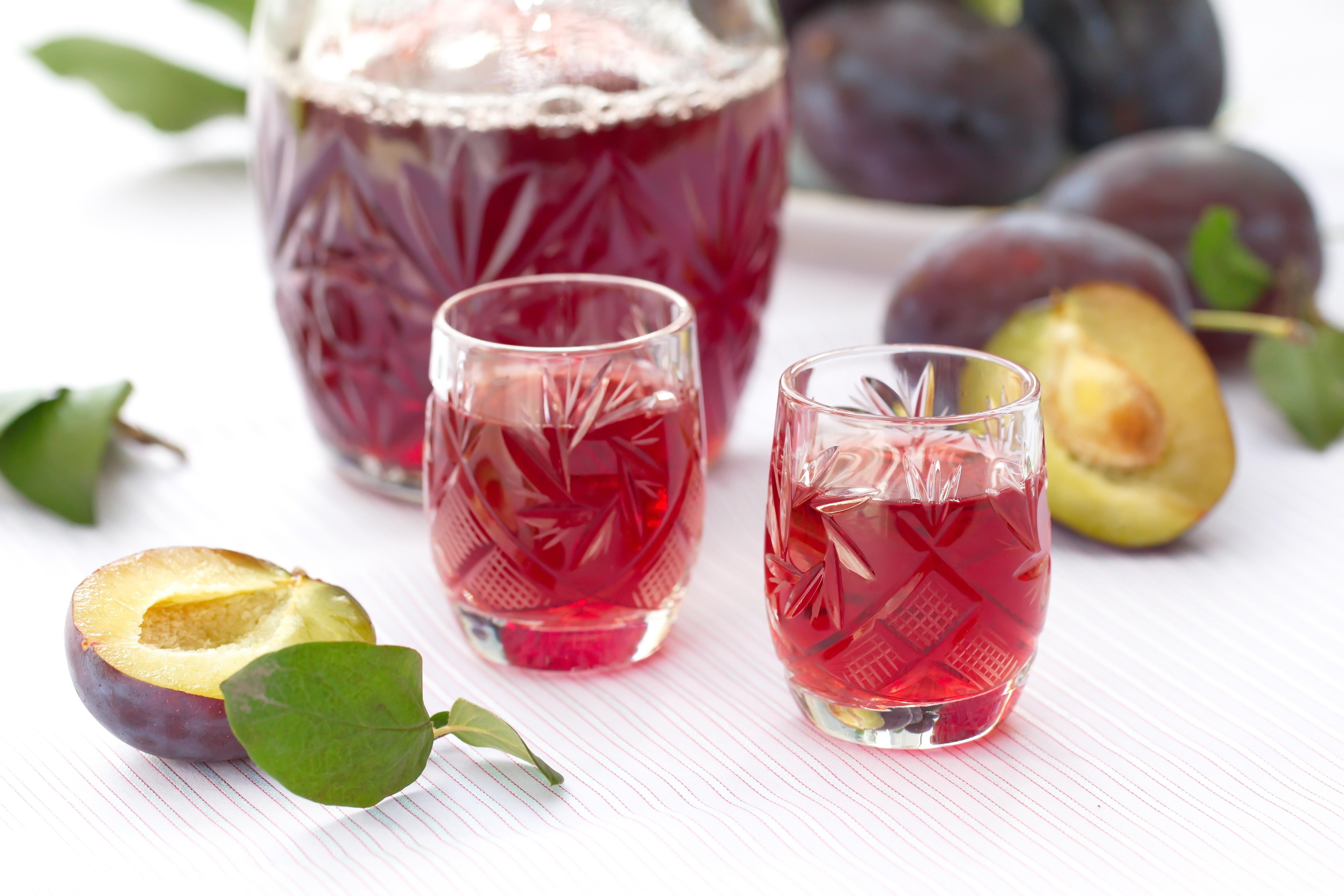 Glass of Damson Vodka