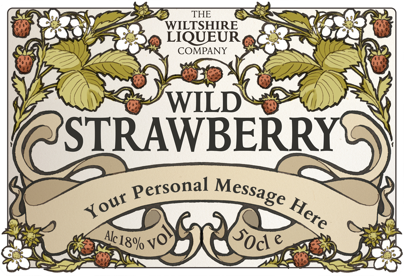 Wild Strawberry personalised label