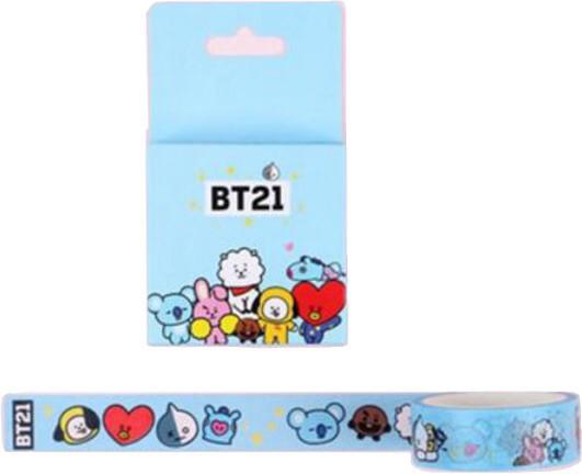 BTS BT21 washi tape 5 metros