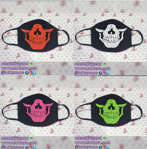 🚚 Tapabocas Cubrebocas SKULL (6 colores)