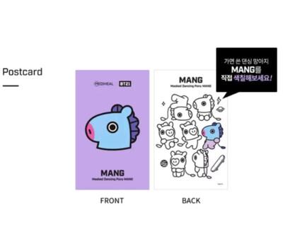BTS BT21 postcard + bookmark