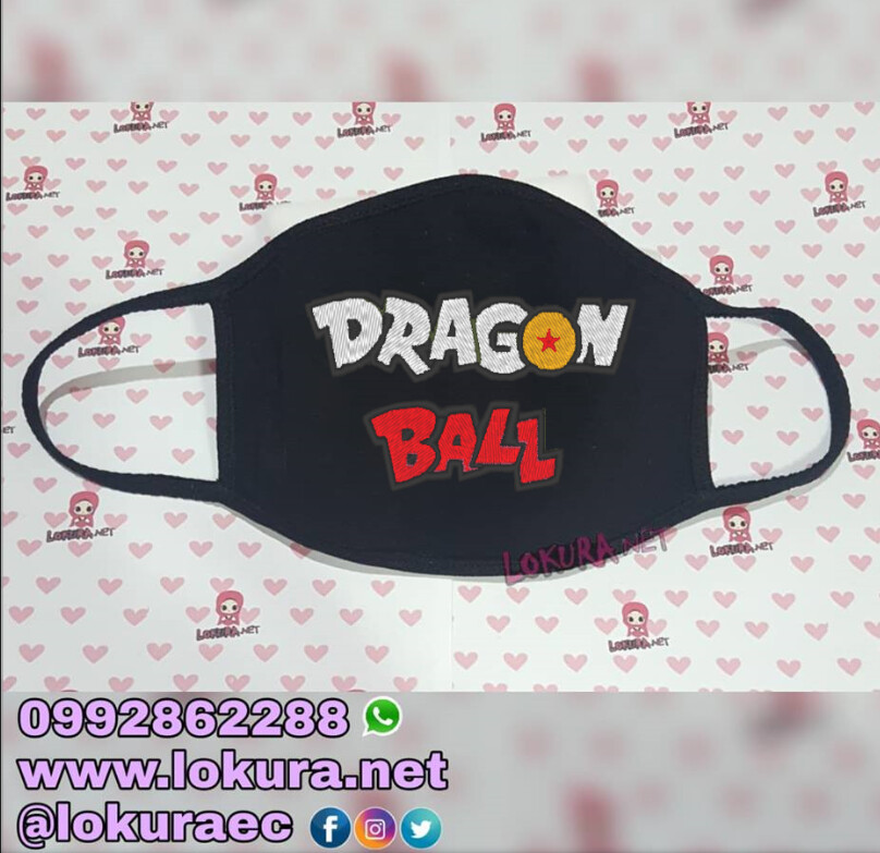 Tapabocas Cubrebocas Dragon Ball