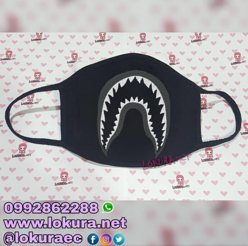 🚚 Tapabocas Cubrebocas Shark B/N