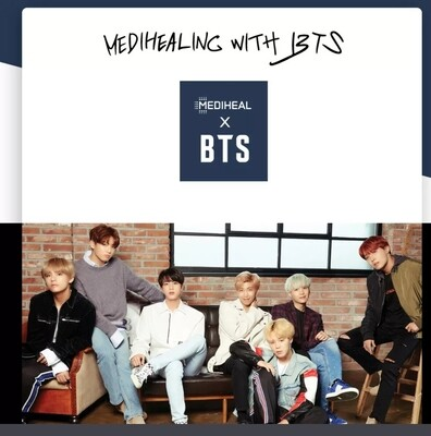 BTS Mediheal 10 mascarillas + Set Photocards Oficial Our Story