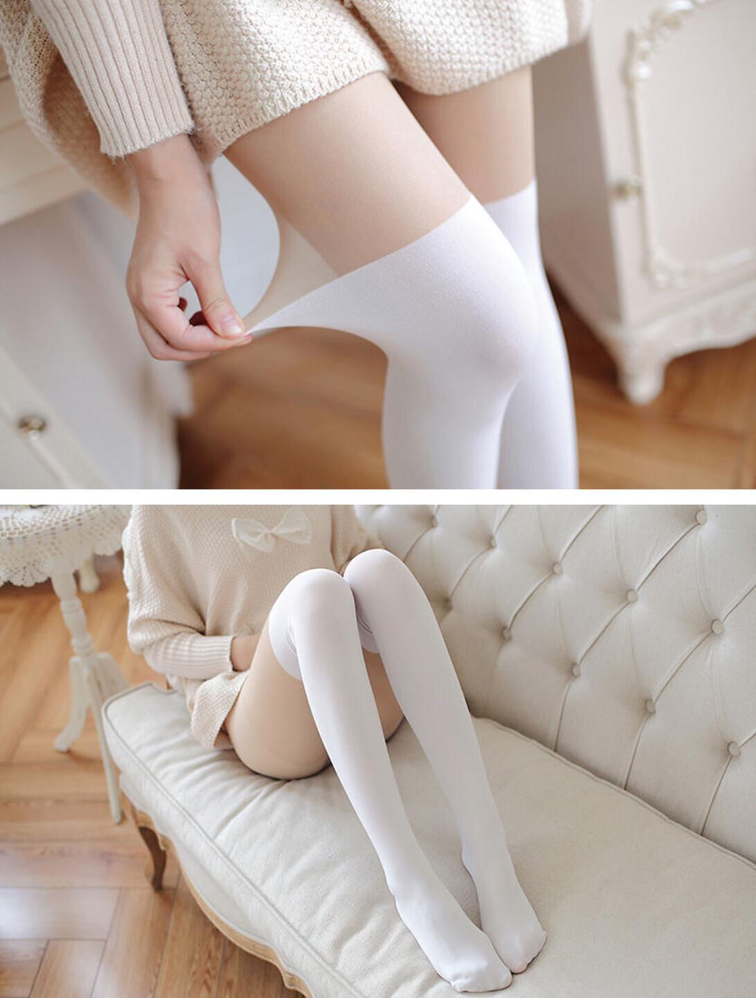 Panty Media Blanca