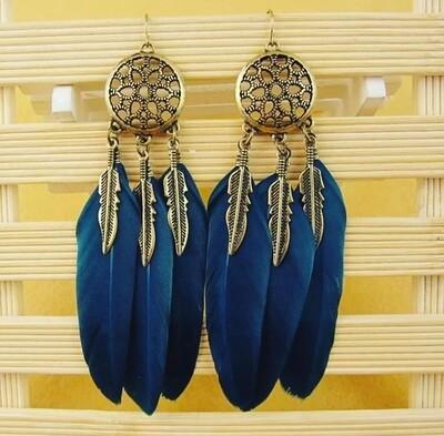 Aretes atrapasueños plumas