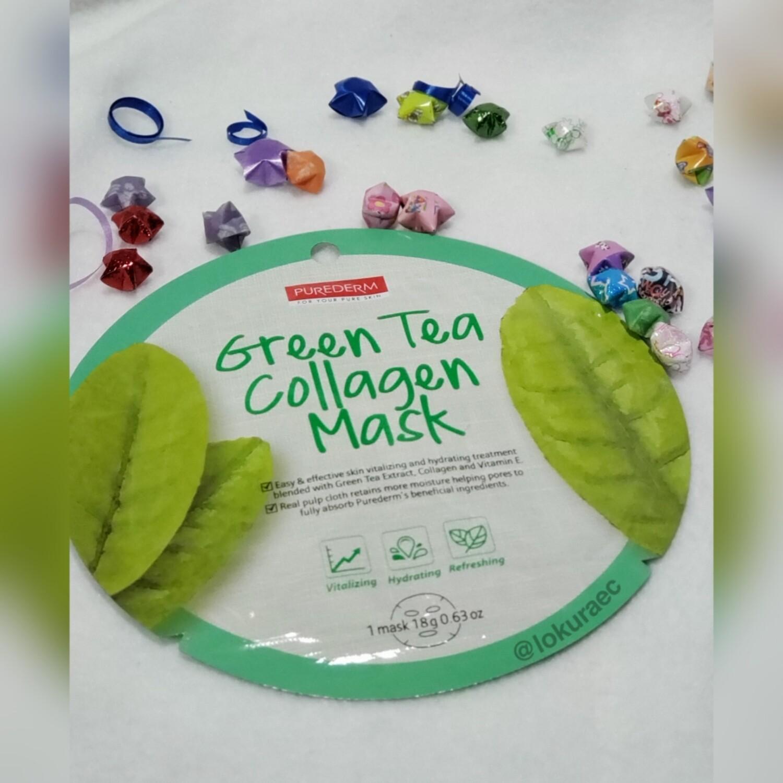 🚚 Mascarilla Green Tea Collagen 🇰🇷