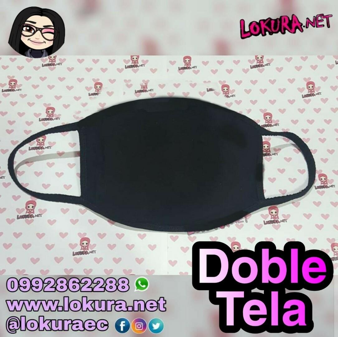 🚚 Tapabocas Negro (Doble)