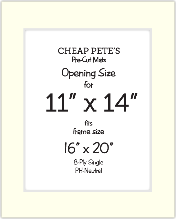 11x14 Opening For 16x20 Frame 8 Ply Mat Pack